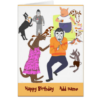 La tarjeta de cumpleaños del juerguista,
