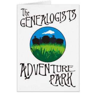 La tarjeta de cumpleaños del parque de la aventura