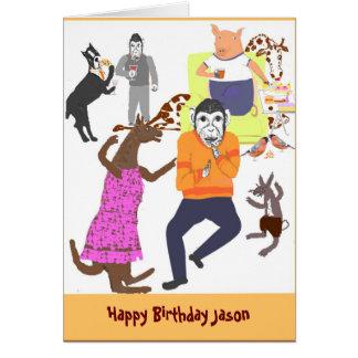 La tarjeta de cumpleaños, divertida, añade nombre