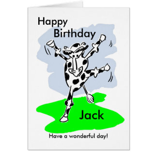 La tarjeta de cumpleaños nombrada vaca del baile