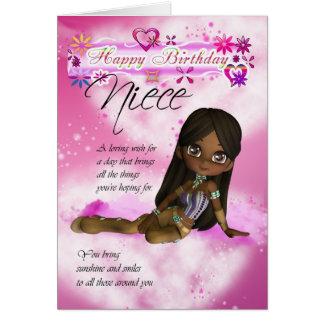 La tarjeta de cumpleaños para la sobrina, empanada