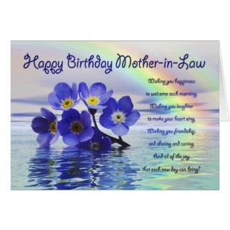 La tarjeta de cumpleaños para la suegra con me olv