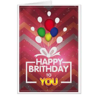 La tarjeta de cumpleaños sofisticada adulta de la