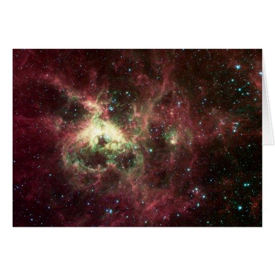 La tarjeta de felicitación de la nebulosa del