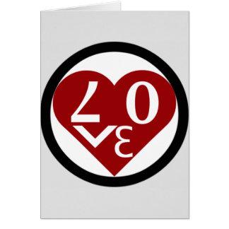 La tarjeta de felicitación del amor del corazón