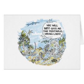 La tarjeta de felicitación del dibujo animado del