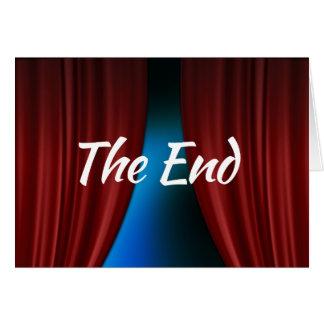 La tarjeta de felicitación del final