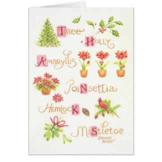 La tarjeta de felicitación del navidad le agradece