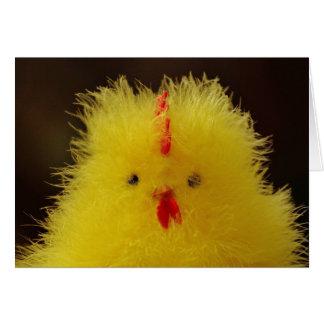 La tarjeta de felicitación mullida del polluelo