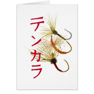 La tarjeta de felicitaciones de Tenkara con 3