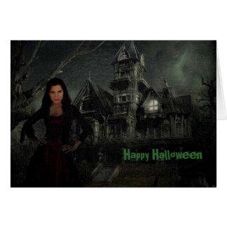La tarjeta de Halloween del empeine