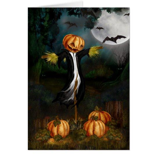 La tarjeta de Halloween del remiendo de la
