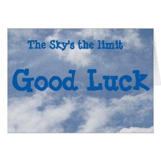 La tarjeta de la buena suerte del límite del cielo