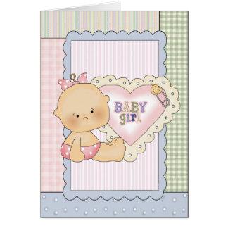 La tarjeta de la enhorabuena del bebé/la