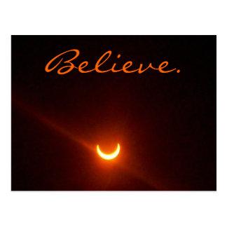 La tarjeta de la esperanza, cree. eclipse postal