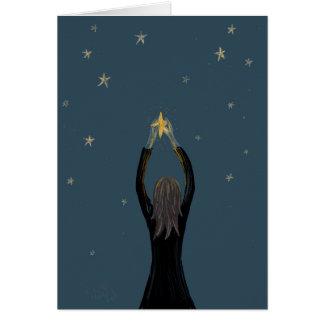 La tarjeta de la estrella que desea