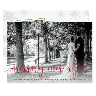 La tarjeta de la foto del navidad del recién