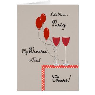 La tarjeta de la invitación para el divorcio es