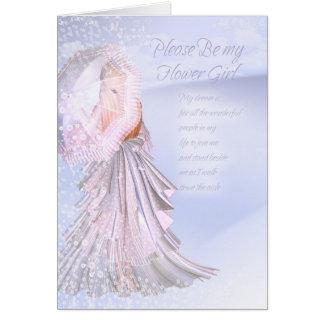 La tarjeta de la petición del florista, sea por fa