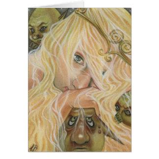 La tarjeta de la princesa y del Goblin