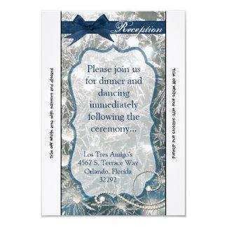 la tarjeta de la recepción 3.5x7 agrietó la nieve invitación 8,9 x 12,7 cm