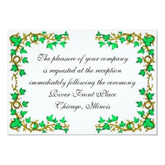 La tarjeta de la recepción de la hiedra y de los invitación 8,9 x 12,7 cm