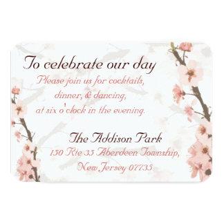 La tarjeta de la recepción para hacer juego la invitación 8,9 x 12,7 cm