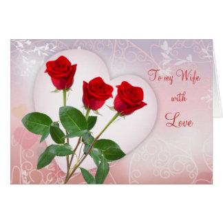 Tarjeta La tarjeta de la tarjeta del día de San Valentín