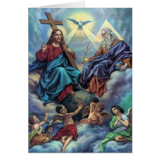 La tarjeta de la trinidad más santa
