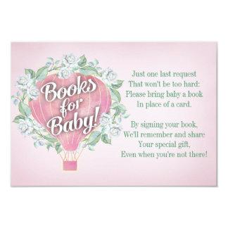 La tarjeta de libro rosada de la fiesta de