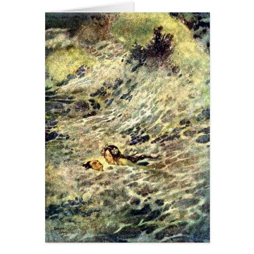 La tarjeta de little mermaid