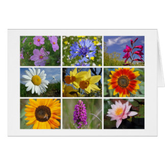 la tarjeta de los Flor-amantes