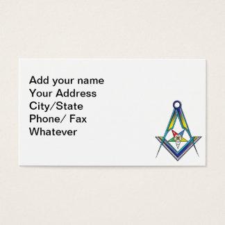 La tarjeta de Masonic/OES