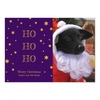 La tarjeta de Navidad de la foto del mascota