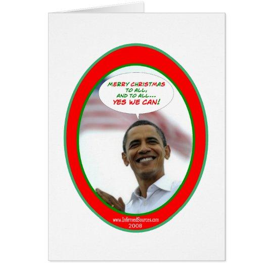 La tarjeta de Navidad de Obama