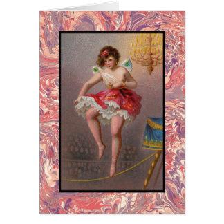 La tarjeta de nota de la bailarina de la cuerda