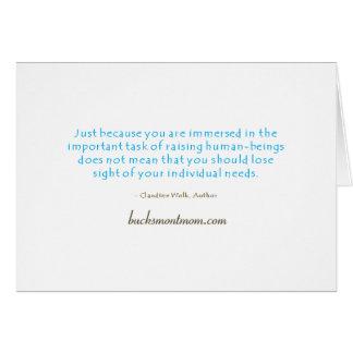 La tarjeta de nota del mantra de la mamá