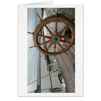 La tarjeta de nota temática náutica #1 envía la