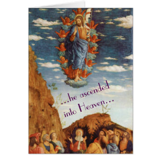 La tarjeta de pascua religiosa de la ascensión