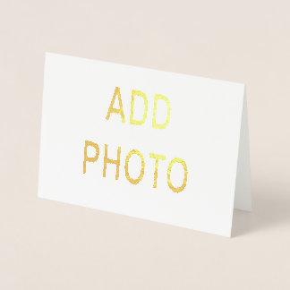 La tarjeta de saludo 5x7 de la tinta metálica del