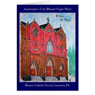 La tarjeta de St Mary histórico (pintura)