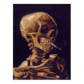 La tarjeta de un cigarrillo ardiente de Van Gogh