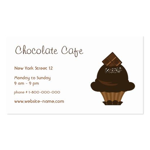 La tarjeta de visita del boutique del chocolate
