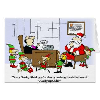 La tarjeta del contable, Santa declara navidad de