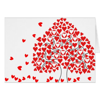 La tarjeta del corazón que cae de la tarjeta del