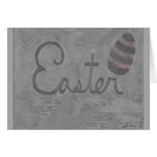 La tarjeta del Cursive y del huevo de Pascua