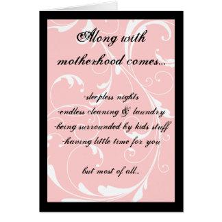 La tarjeta del día de madre, junto con maternidad