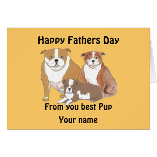 La tarjeta del día de padres de la familia del dog