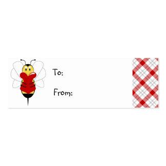 La tarjeta del día de San Valentín manosea la etiq Tarjetas De Visita Mini
