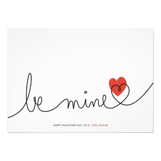 La tarjeta del día de San Valentín minimalista sea Comunicado Personalizado